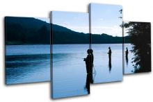 Fishing Lake Blue Sunset Seascape - 13-0135(00B)-MP04-LO